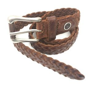Levi's 3575 Genuine Leather Brown Braided Belt